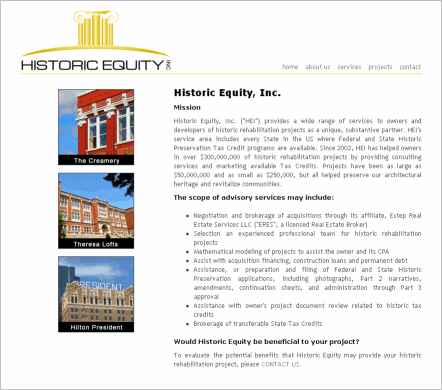 Historic Equity, Inc.